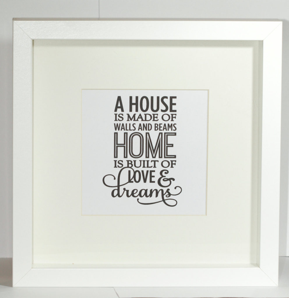 love and dreams house framed quote print samantha k giftssamantha