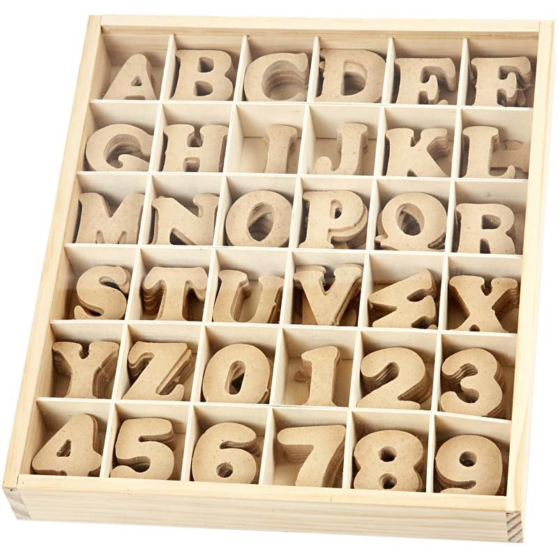 Wood letters & numbers - 2cm - 10cm high - Prices start at ...