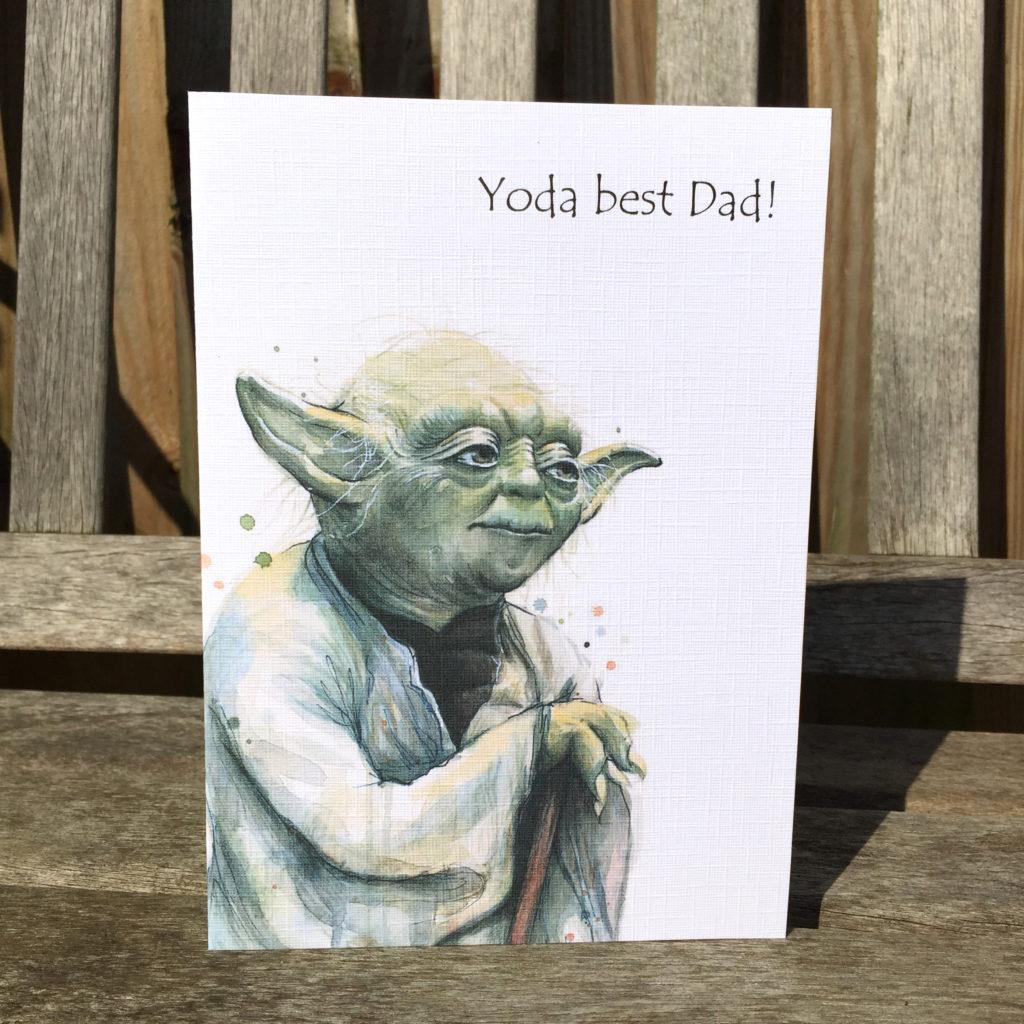 Yoda Fathers Day Birthday Card Star Wars Card Heavyweight