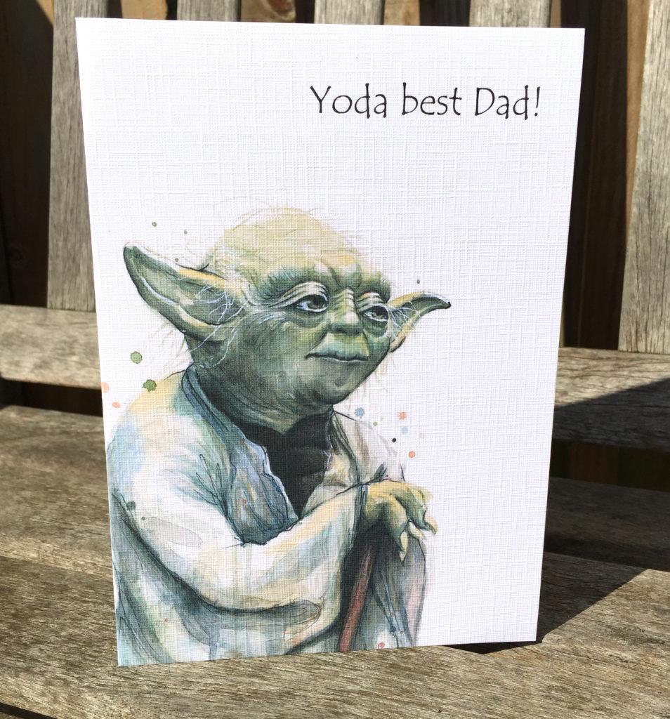 Yoda Fathers Day / Birthday Card