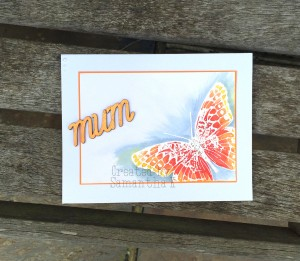 mum card orange butterfly front
