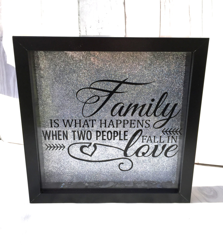 Quote - Family is what happens - in love - frame - Samantha K ...