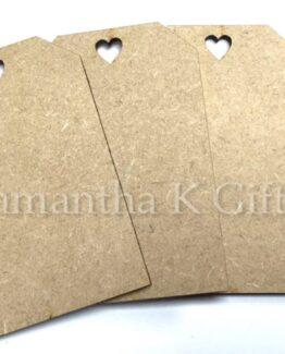 craft tag mdf heart hole