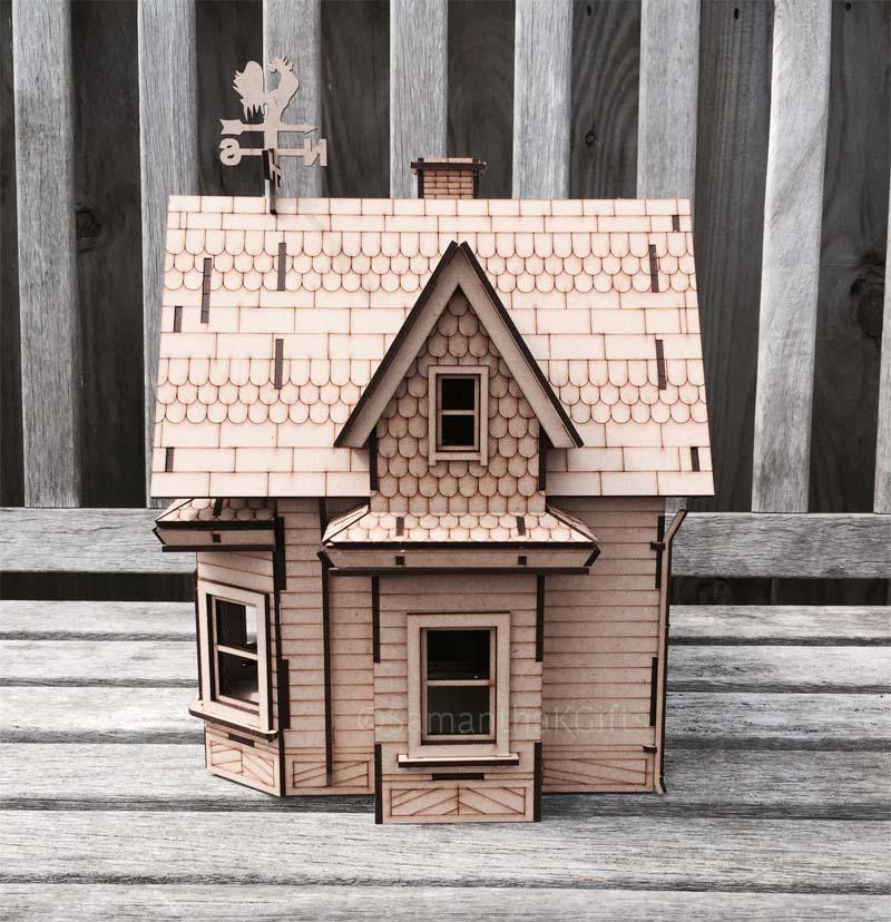 Up House Detailed Mdf Model Kit Diy Samantha K