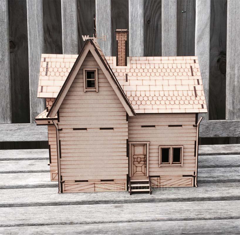 Up House Detailed Mdf Model Kit Diy